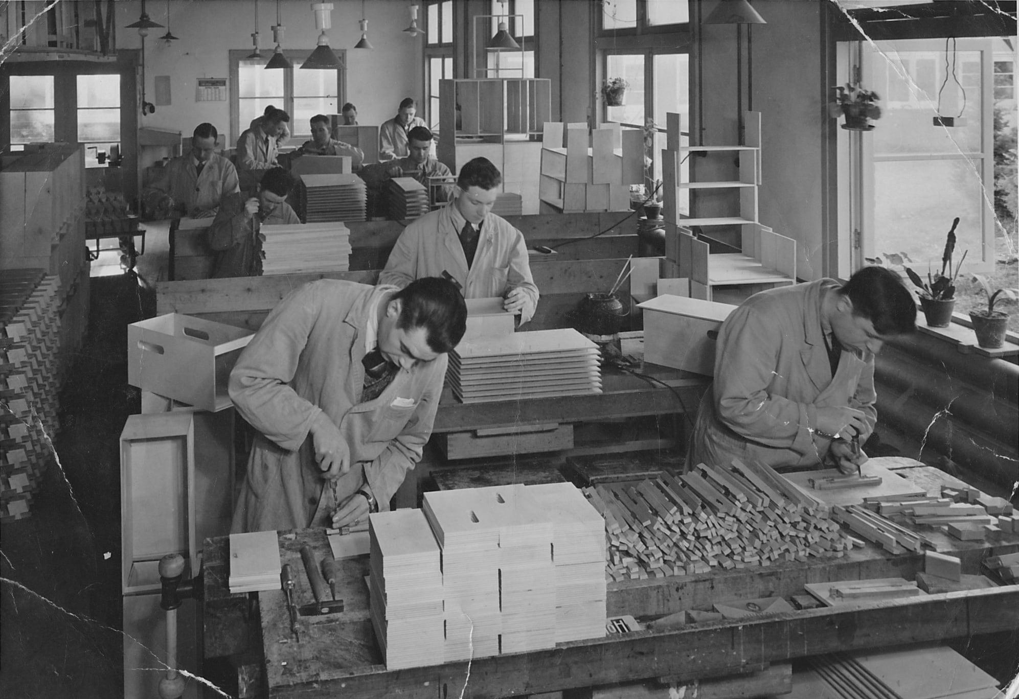 De ado speelgoed werkplaats in sanatorium Berg & Bosch in Bilthoven